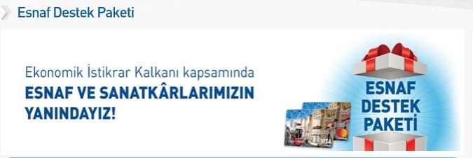 Halkbank Esnaf Destek kredisi hesaplama